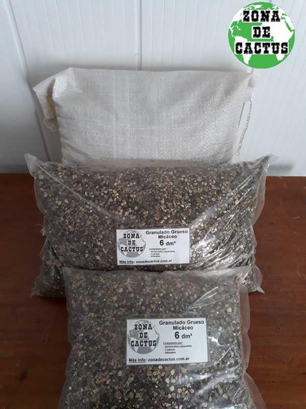 Bolsas de compuesto granulado micáceo