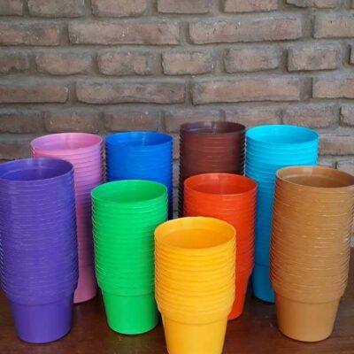 Maceta plástica N 10 (colores variados)