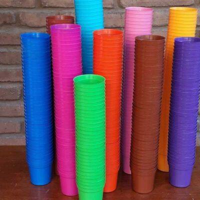 Maceta plástica N 6 (colores variados)