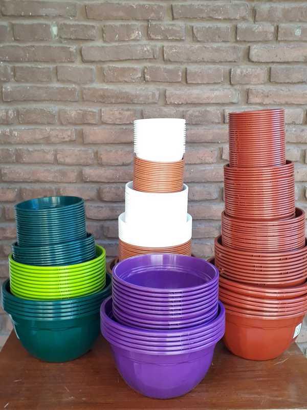 Macetas plásticas BOWL del 12 al 24